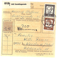 Paketkarte GERBLINGERODE > WARSTEIN  (640) - [7] Repubblica Federale