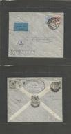 STRAITS SETTLEMENTS SINGAPORE. 1933 (6 Sept) Singapore - Germany, Poessneck. Air Multifkd Envelope Front + Reverse + Mix - Singapore (1959-...)