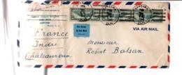 USA ETATS UNIS AFFRANCHISSEMENT COMPOSE SUR LETTRE POUR LA FRANCE 1941 - Poststempel