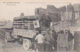 """Guerre 1914 / 15  Front De L Est  Clermont En Argonne """" Camion Auto Bazar Dans Les Ruines """" - Clermont En Argonne"""