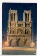 PARIS, Notre-Dame Illuminee, 1966 Used Postcard [23505] - Notre Dame De Paris