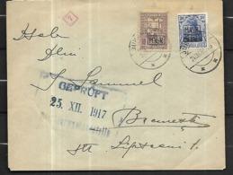 ROUMANIE - GUERRE 1914-18 - LETTRE DE BUCAREST 25 12 1917,  CENSURE ALLEMANDE 1917 + - Marcofilia