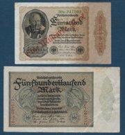 ALLEMAGNE - 2  Billets - [ 3] 1918-1933 : République De Weimar