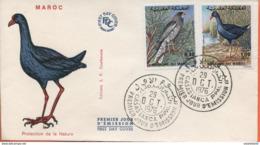 """Maroc;FDC,1976; TP N°777/778;faune Marocaine;oiseaux """"Morocco;Marruecos - Maroc (1956-...)"""