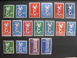 Année Complète Europa 1958. Neufs XX. - 1958
