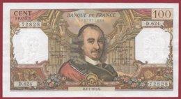 """100 Francs """"Corneille"""" Du 06/01/1972.Q ---F/TTB+---ALPH D.624 - 1962-1997 ''Francs''"""