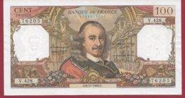 "100 Francs ""Corneille"" Du 06/11/1969.D ---F/TTB+---ALPH V.428 - 1962-1997 ''Francs''"