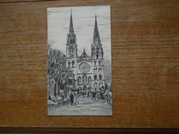 """Chartres , La Cathédrale , """" Dessin Aucune Indication , Dos Vierge """" - Chartres"""