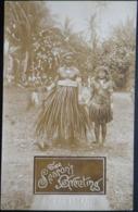 Ocean Island Real Photo Postcard.  The Seasons Greetings - Sonstige