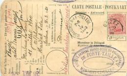 Belgique. TP 138 CP Gozée > Montignies-le-Tilleul 1920     Thème Charbonnage - 1915-1920 Albert I