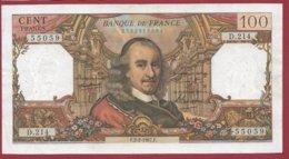 """100 Francs """"Corneille"""" Du 02/02/1967.F ---F/TTB+---ALPH D.214 - 1962-1997 ''Francs''"""