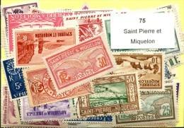 75 Timbres Saint Pierre Et Miquelon - France (former Colonies & Protectorates)