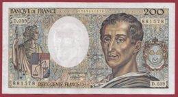 """200 Francs """"Montesquieu"""" 1986  ---F/TTB+---ALPH  D.039 - 1962-1997 ''Francs''"""