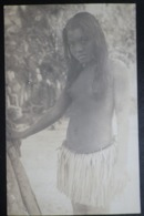 Ocean Island Real Photo Postcard.  Unititled. Young Native Girl - Sonstige