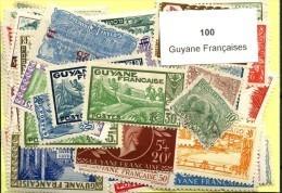 100 Timbres Guyane Francaise - Guyane Française (1886-1949)