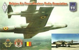"5207 "" BELGIAN AIR FORCE AMATEUR RADIO ASSOCIATION-AVRO CANADA CF100 MK 5 CANUCK"" -CART. POST. ORIG. NON SPED. - Radio Amateur"