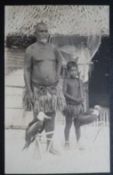 Ocean Island Real Photo Postcard.  Unititled. Man & Young Native Boy With Birds - Sonstige
