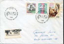 47242g Italia,  Registered Circuled Cover 1998 Lancenigo,  Mozart Notes  !!! - Music
