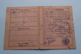 Carte D'ALIMENTATION Titre 3021 & Carte De CHARBON >> LEMOULINIER Rouen Seine Inf. / Saint Denis 1946 ( Voir Photo ) ! - Historische Documenten