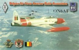 "5208 "" BELGIAN AIR FORCE AMATEUR RADIO ASSOCIATION-LOCKHEED T-33 SHOOTING STAR-T BIRD"" -CART. POST. ORIG. NON SPED. - Radio Amateur"