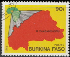 Burkina Faso 1985. ~ YT 642 - Carte - Burkina Faso (1984-...)