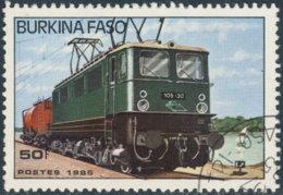 Burkina Faso 1985. ~ YT 656 - Locomotive électrique 105.30 - Burkina Faso (1984-...)