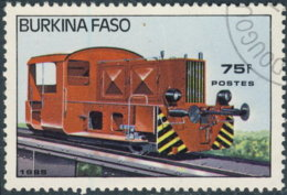 Burkina Faso 1985. ~ YT 657 - Locomotive Manoeuvre - Burkina Faso (1984-...)