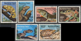 Burkina Faso 1985. ~ YT 662 à 65+A302.03 - Reptiles - Burkina Faso (1984-...)