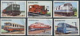 Burkina Faso 1985. ~ YT 656 à 58+A294à96 - Locomotives Et Trains - Burkina Faso (1984-...)
