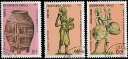 Burkina Faso 1985. ~ YT YT 682 à 84 - Artisanat - Burkina Faso (1984-...)