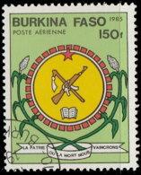 Burkina Faso Aérien 1985. ~ A 279- Armoiries - Burkina Faso (1984-...)