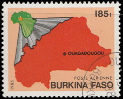 Burkina Faso Aérien 1985. ~ A 280 - Carte - Burkina Faso (1984-...)