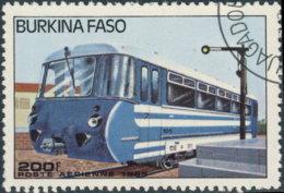 Burkina Faso Aérien 1985. ~ A 296- Autorail Modèle 105 - Burkina Faso (1984-...)