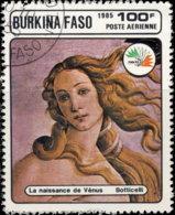 Burkina Faso Aérien 1985. ~ A 313 - Italia'85. Naissance De Vénus - Burkina Faso (1984-...)