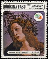 Burkina Faso Aérien 1985. ~ A 315 - Italia'85. Pallade Et Centaure - Burkina Faso (1984-...)