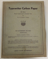 Boîte De Papier Carbone US Pour Machine à écrire - Equipement