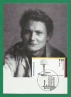 BRD 1998  Mi.Nr. 2003 , Wilhelm Wagenfeld - Design In Deutschland - Hagenbach Maximum Card - Stempel Bonn 20.08.1998 - [7] Federal Republic