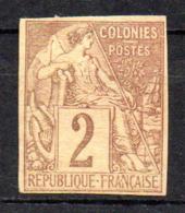 Col17  Emissions Générales N° 47 Non Dentelé Neuf (X) No Gum Bande Journaux   Cote : >>> Euros - Alphée Dubois