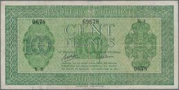 Djibouti / Dschibuti: Banque De L'Indochine 100 Francs ND(1945), P.16, Several Folds, Tiny Pinholes - Dschibuti