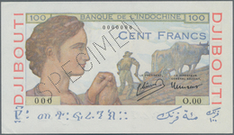 Djibouti / Dschibuti: Banque De L'Indochine – DJIBOUTI 100 Francs ND(1946) SPECIMEN, P.19As, Tiny Di - Dschibuti