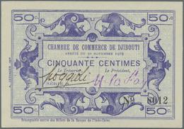 Djibouti / Dschibuti: Chambre De Comerce De Djibouti 50 Centimes L.30.11.1919, P.23 In Perfect UNC C - Dschibuti