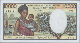 Djibouti / Dschibuti: 10.000 Francs ND(1984-99), P.39b In Perfect UNC Condition. - Dschibuti