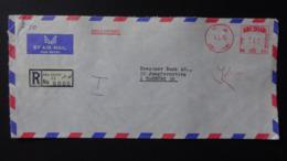 Abu Dhabi - 1976 - Freistempel - 240 - 4 II 76 - Porto - Registered Mail - Look Scan - Abu Dhabi