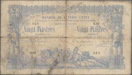 French Indochina / Französisch Indochina: Banque De L'Indo-Chine – Saïgon 20 Piastres 1907, P.36, Al - Indochina