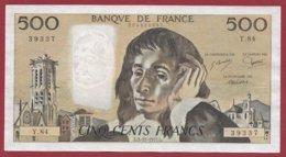 """500 Francs """"Pascal"""" Du 03/11/1977.L --- F/TTB+---ALPH  Y.84 - 1962-1997 ''Francs''"""