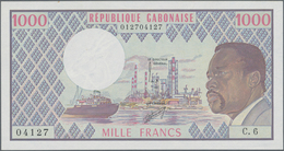 Gabon / Gabun: Banque Des États De L'Afrique Centrale - République Gabonaise 1000 Francs ND(1970's), - Gabun