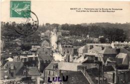 DEPT 50 : édit. ? : Saint Lo Panorama Sur La Route De Coutances Vue Prise Du Couvent Bon Sauveur - Saint Lo