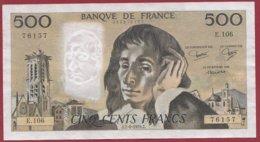 "500 Francs ""Pascal"" Du 07/06/1979.J --- F/TTB+---ALPH  E.106 - 1962-1997 ''Francs''"