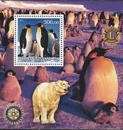 TURKMENISTAN 2001 MANCHOTS PINGUOINS PENGUINS PINGUINS  - LIONS International - Preservare Le Regioni Polari E Ghiacciai