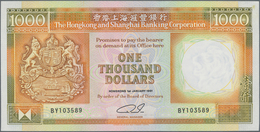 Hong Kong: Hongkong & Shanghai Banking Corporation 1000 Dollars 1991, P.199c In Perfect UNC Conditio - Hong Kong